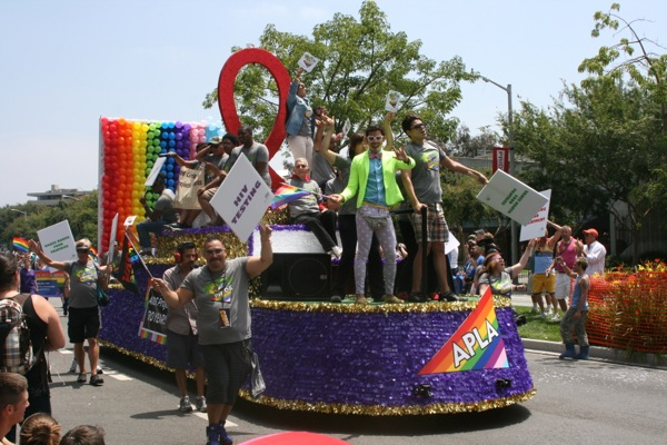 APLA float LA Pride Parade 2013