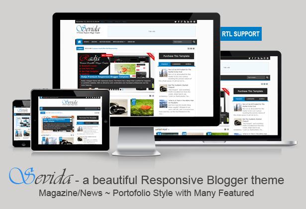 Free Download Sevida V2.3.1 Responsive Magazine Blogger Template