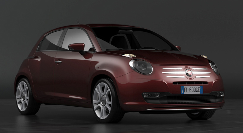 new fiat 600 design concept for a punto replacement. Black Bedroom Furniture Sets. Home Design Ideas