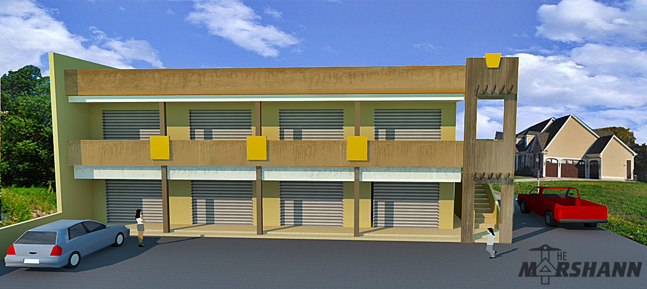 28 two storey commercial building design two storey for Two story office building plans