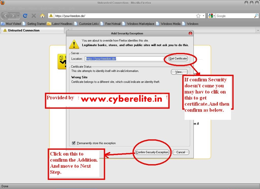 How to hack or unblock cyberoam to access all blocked sites in click on add exception ccuart Choice Image
