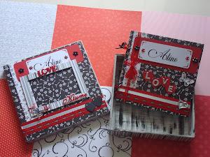 Álbum com caixa decorada...