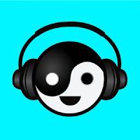 Yin yang con auriculares
