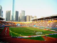Guangzhou Evergrande's football stadium is wonderful.