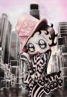 """Betty Boop NY"" Giclee Print by Naja Conrad-Hansen & Dark Hall Mansion"