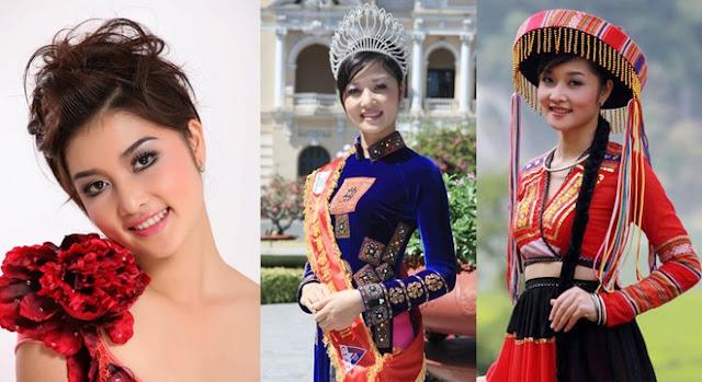 Giành ngôi Hoa hậu Dân tộc năm 2011 ở tuổi 19, Triệu Thị Hà được biết đến với khuôn mặt đầy đặn, thùy mị dù các đường nét còn hơi thô.