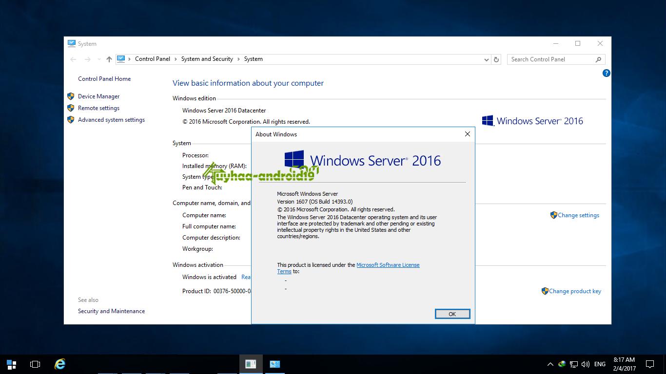 Windows Server 2016 RTM kuyhaa