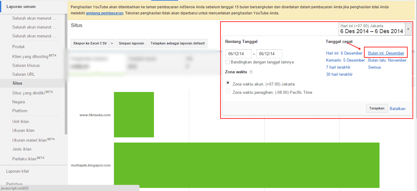 Cara melihat pembayaran Google adsense 1