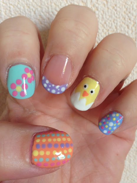 easy easter and spring nail