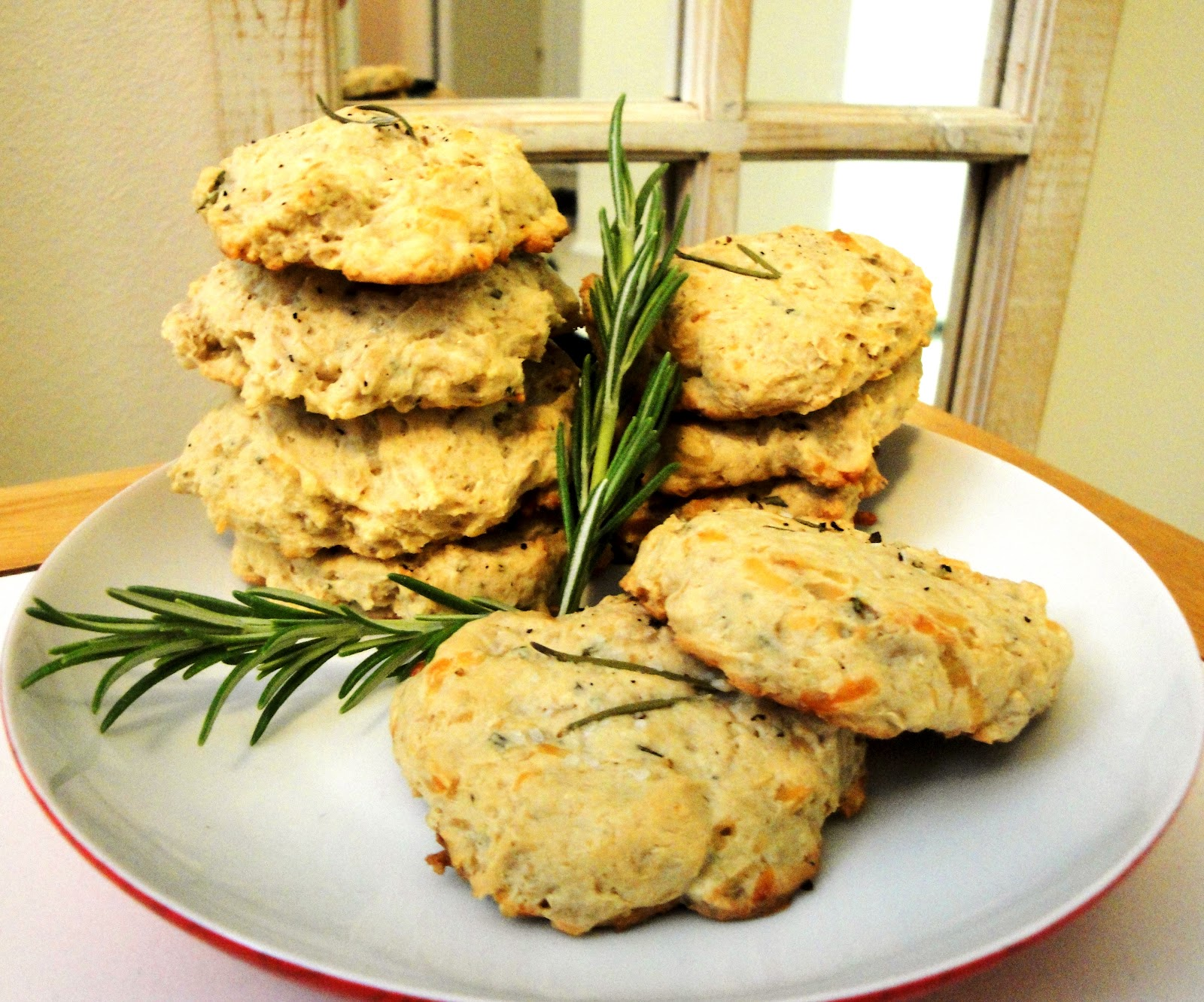 MD cooks for two: Savory Oatmeal Cookies - Parmesan & Rosemary