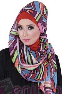 Zenitha Jilbab 05 - Orange (Toko Jilbab dan Busana Muslimah Terbaru)