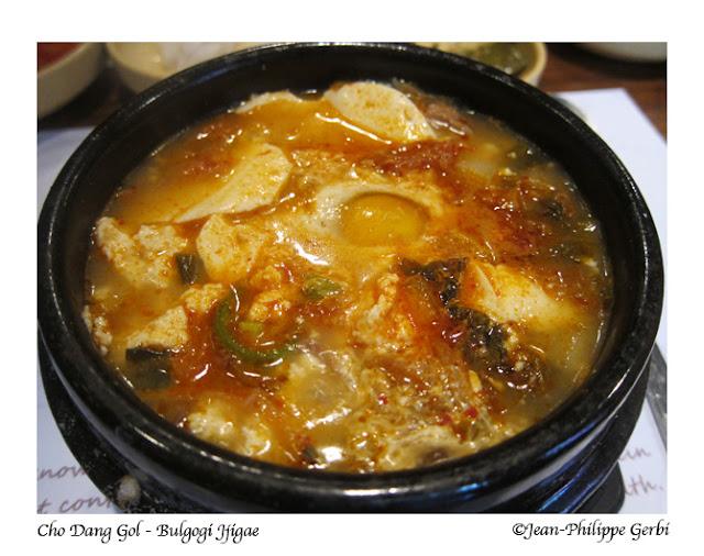 Image of Bulgogi Jiggae at Cho Dang Gol Korean restaurant in NYC, New York