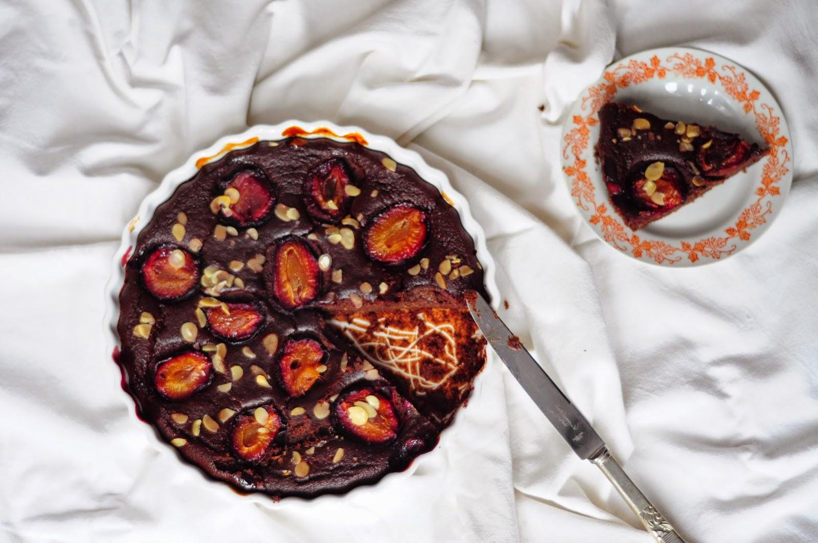 ciasto jaglane z owocami brownie z kaszy jaglanej