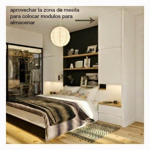 para ganar espacio de almacenaje este dormitorio que os muestro a continuacin es un buen ejemplo de ello
