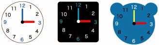 Một số mẫu mặt đồng hồ, các bạn có thể click chuột vào hình dưới và in ra để dán vào