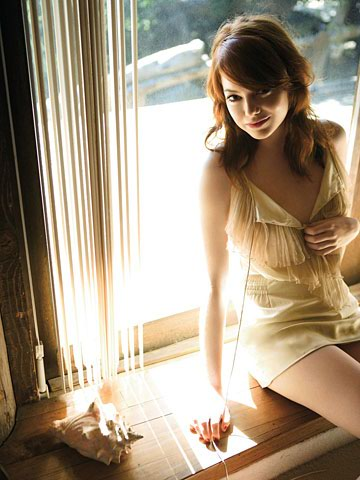 Sexiest Women Alive of November 2012 Emma Stone in White