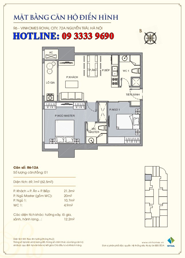 Căn hộ R6-12a Royal City