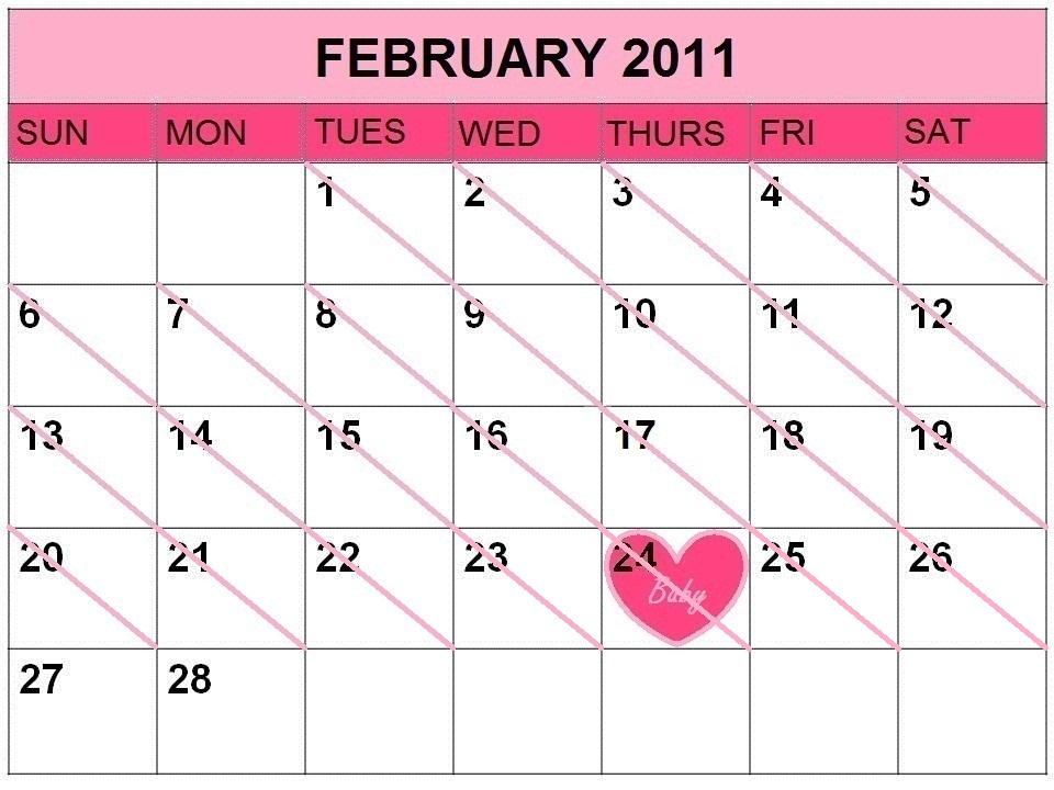 2011 calendar february. Calendar 2011-Printable