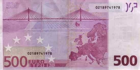 جسر، مهندس معماري، الأوراق النقدية