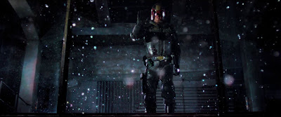 Particles of dust in slo-mo in the 2012 film Dredd 3D