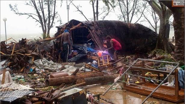 foto Angin Topan Pam di Kepulauan Wanuatu
