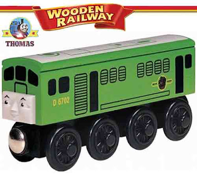 Model collection wooden toy train railway Thomas the tank engine BoCo the diesel green locomotive