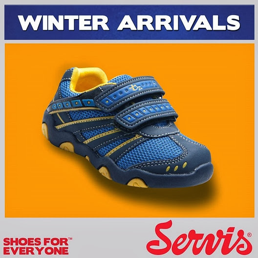 Servis New Winter Arrivals Foot Wear Collection 2013-14 For Men & Girl