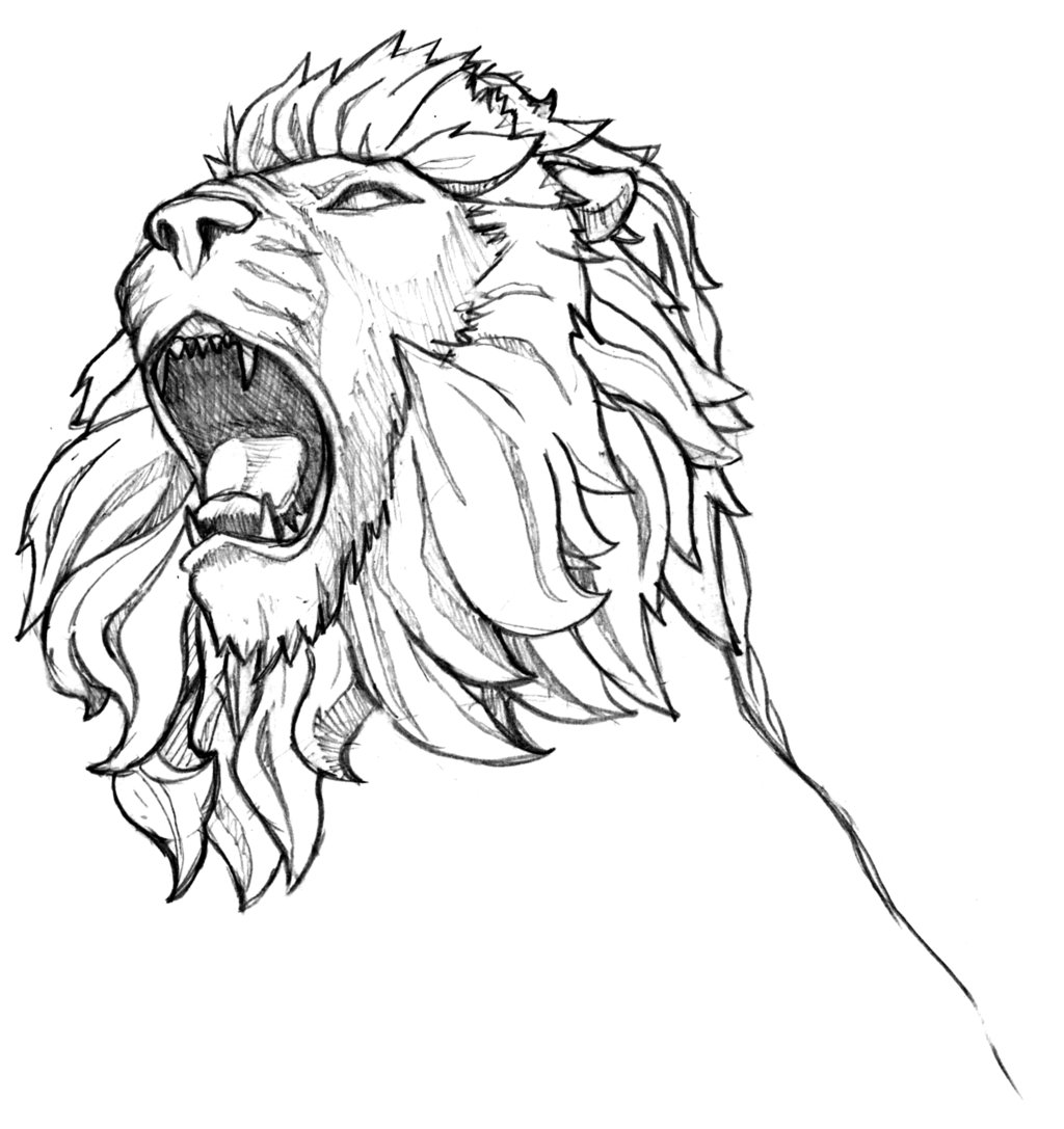 lion growling coloring pages - photo#30