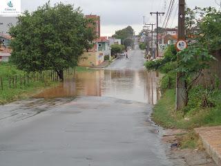 Obra de drenagem da lagoa da APUC não funcionou.