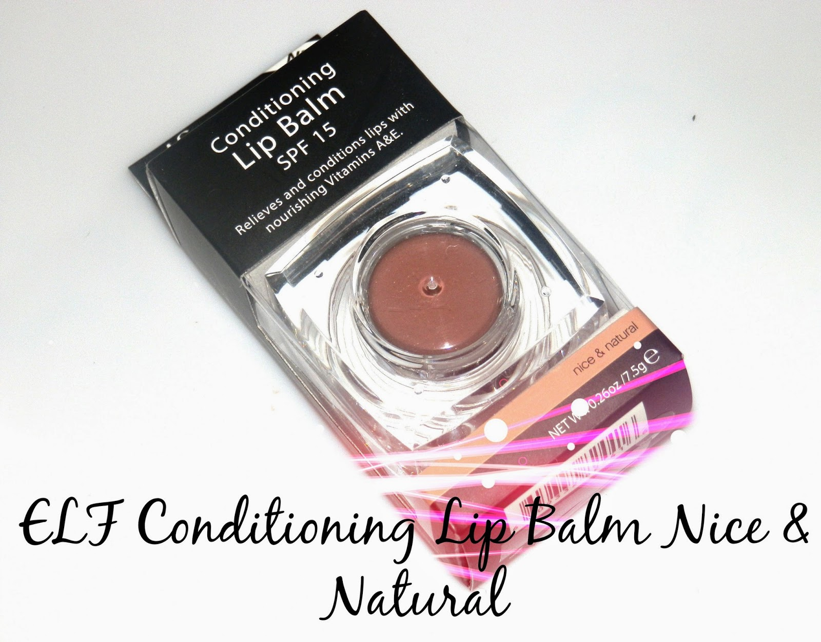 ELF Conditioning Lip Balm Nice & Natural Swatches