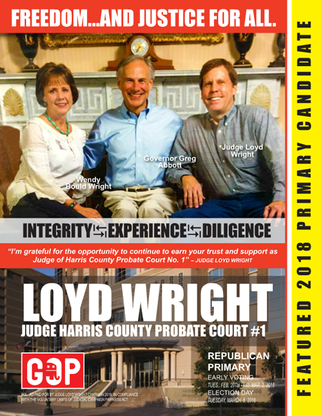 JUDGE LOYD WRIGHT TUESDAY, MARCH 6, 2018 PRIMARY ADVERTISEMENT