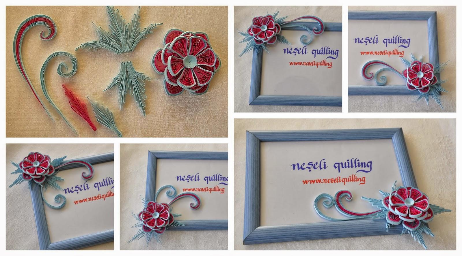neşeli quilling çiçek tasarımı
