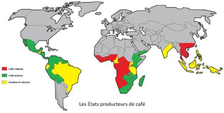 Production De Caf Ef Bf Bd En France Carte
