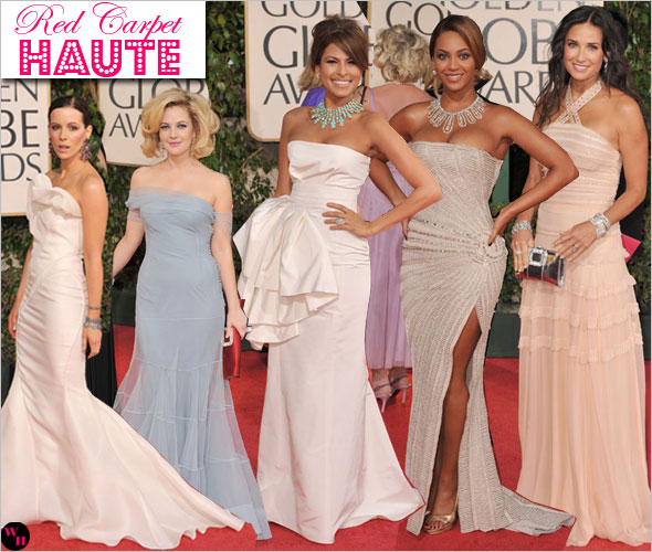 Red Carpet Fashion Models Dress And Hairstyle