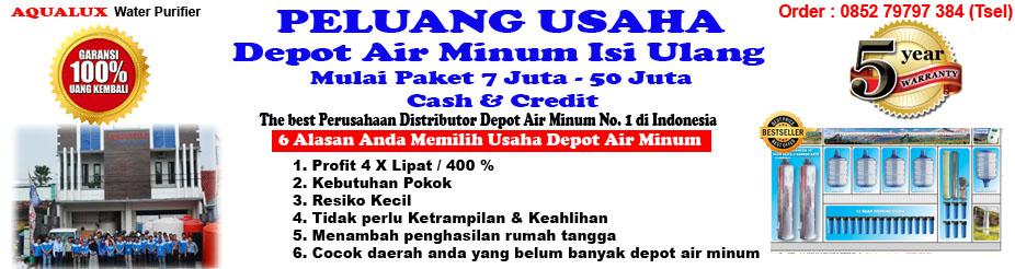 AQUALUX I 085279797384, Modal Usaha Isi Ulang Air Minum Cilacap, Terbesar di Indonesia
