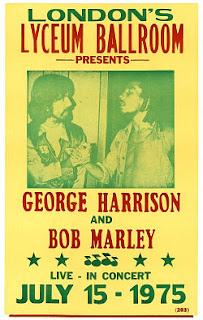 EL DIA QUE GEORGE HARRISON CONOCIO A BOB MARLEY