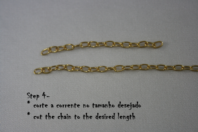 DIY Delicate Bracelet - cutting chain to desired length