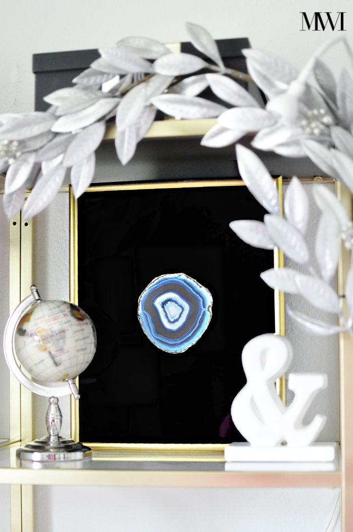 DIY agate frame gold shadowbox