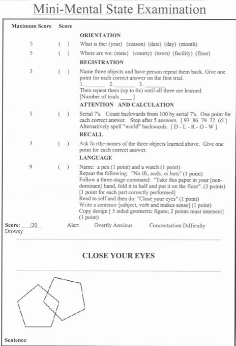 the neuropsychiatric mental status examination pdf