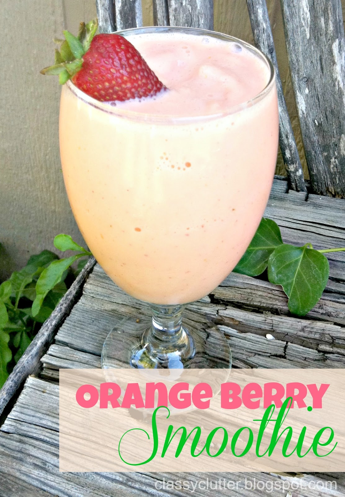 Orange Berry Smoothie! BETTER than Jamba Juice! For reals.