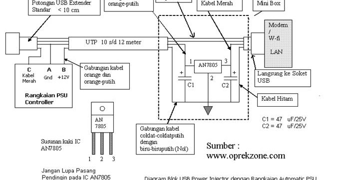 computer software  making usb power injector with auto