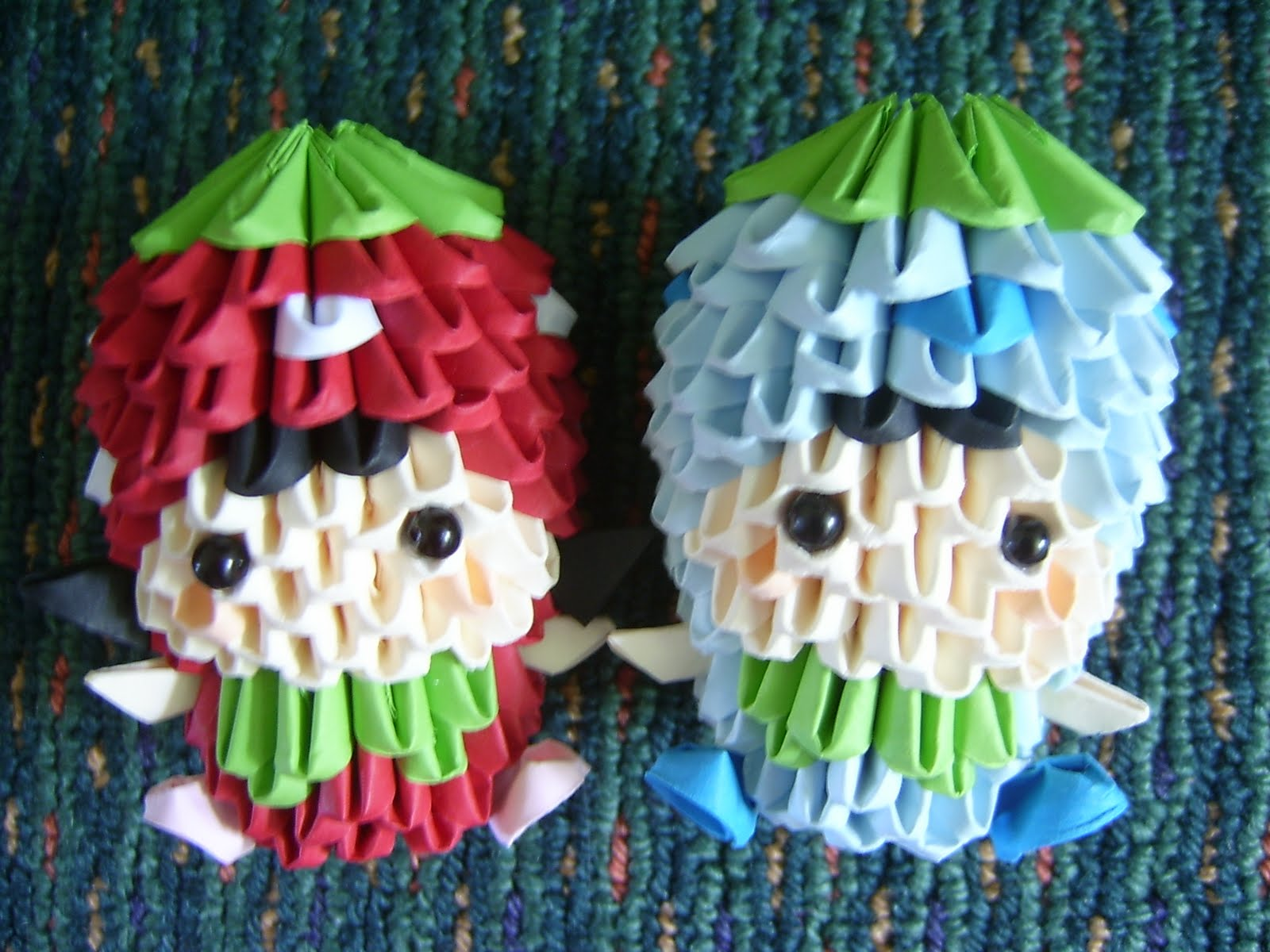 3d Origami Strawberry Boy And Girlnot Mine