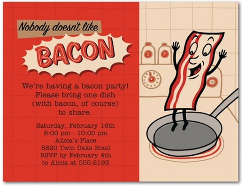 World Bacon Day Party invitation Freebie