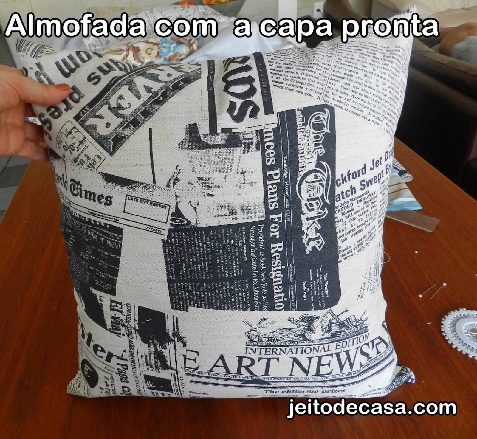 faça capa de almofadas