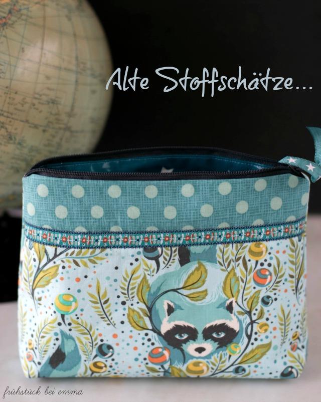 Kosmetiktasche selbstgenäht dost Waschbär Tilda