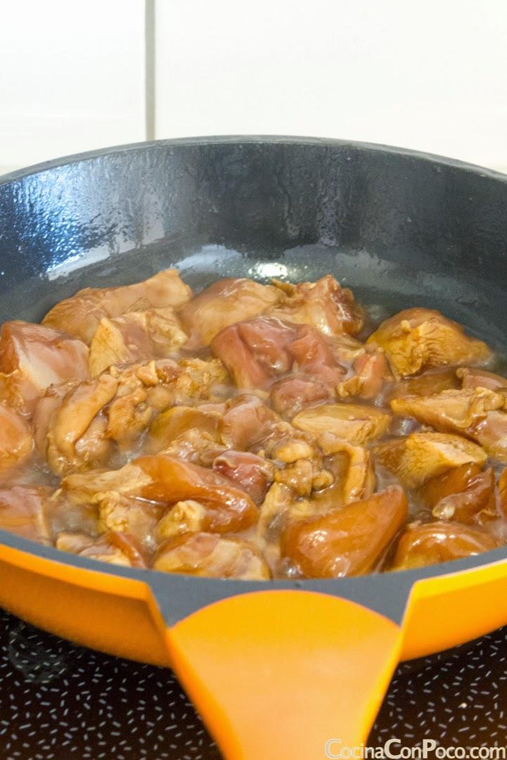 Pollo con almendras chino - Receta paso a paso