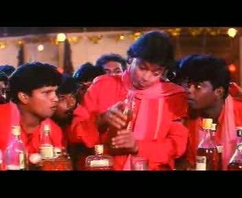 Shankar pours himself a drink