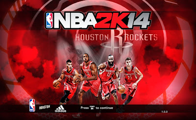 NBA 2K14 Houston Rockets Big 4 Title Screen