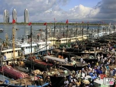 Các tàu cá Trung Quốc. Ảnh minh họa. (Nguồn: China Daily)