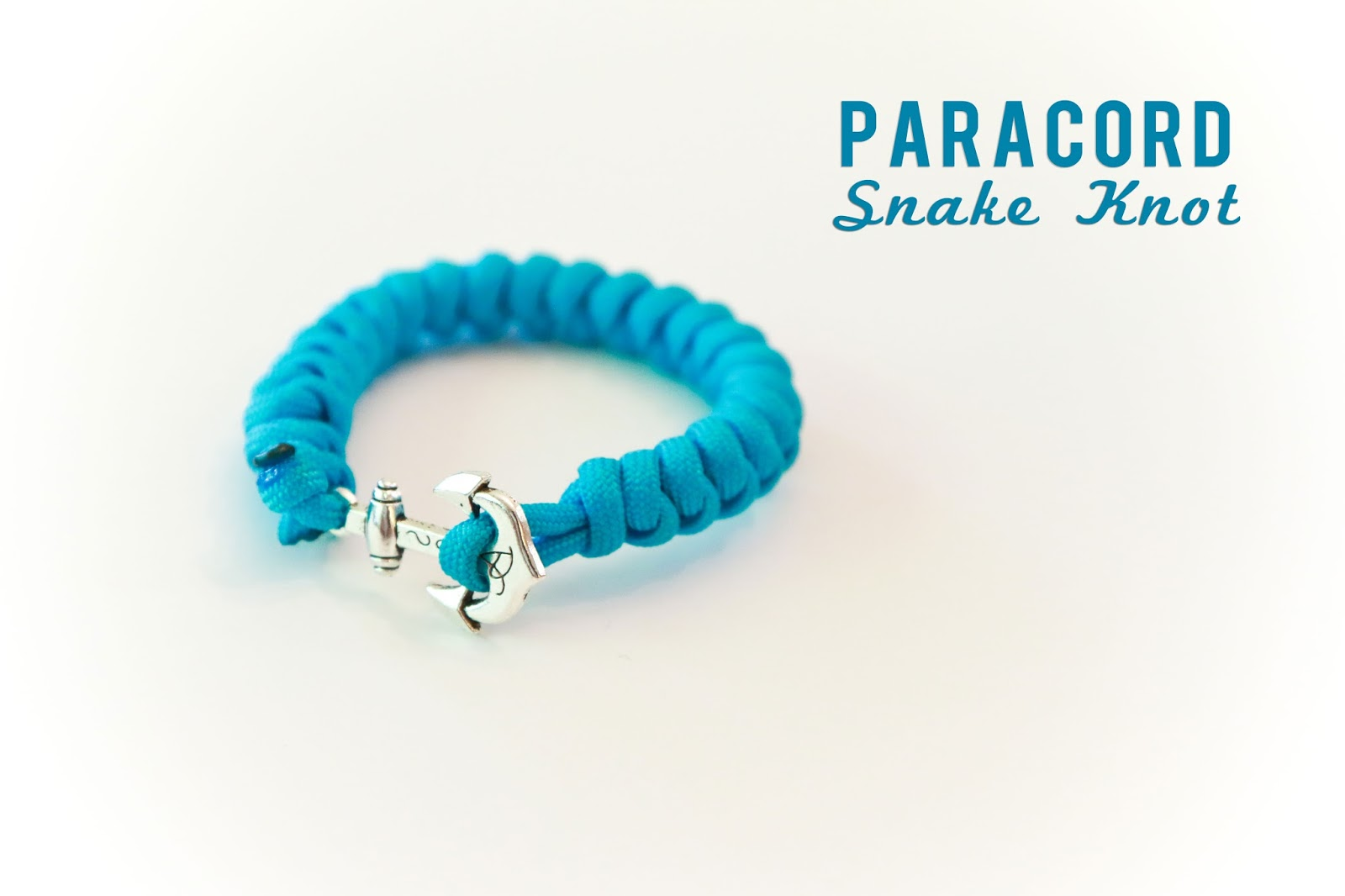 Paracord Snake Knot with Anchor @craftsavvy #craftwarehous #paracord #paracordbracelets #diy